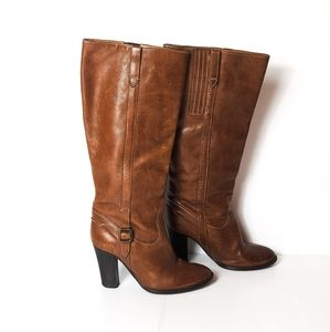 J. Crew Brown TALL Italian Leather Heeled Boots